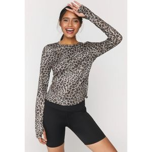 Spiritual Gangster Cheetah Active Long Sleeve Tee